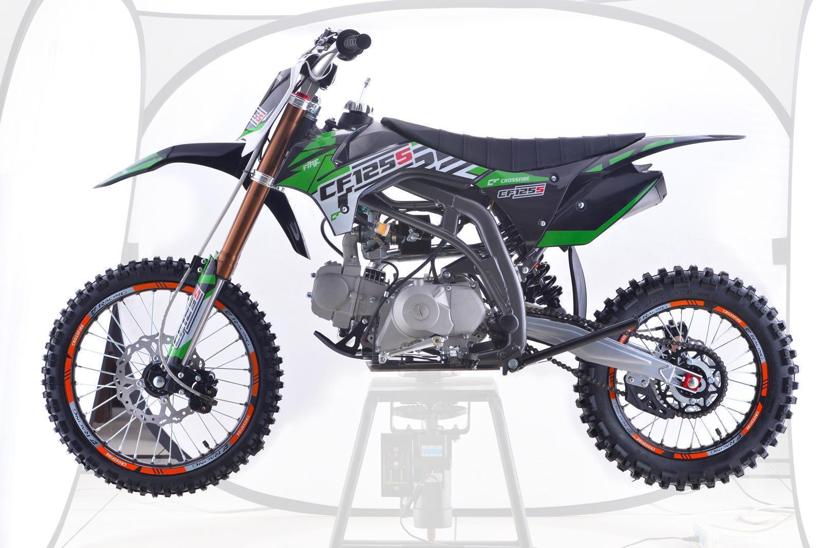 Crossfire CF125S Motorbike Green - dirt bikes store lockyer valley