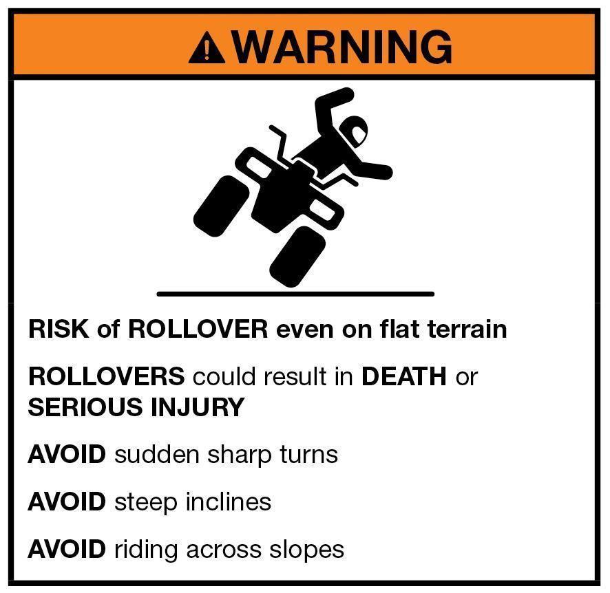 Rollover Warning Label